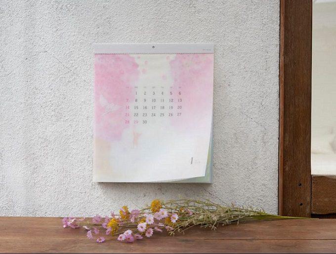 """2020年おすすめのおしゃれなカレンダー「glassine paper Calendar """"satoyama""""(グラシンペーパーカレンダー""""さとやま"""")」"""
