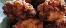 鶏のから揚げ盛り付け写真