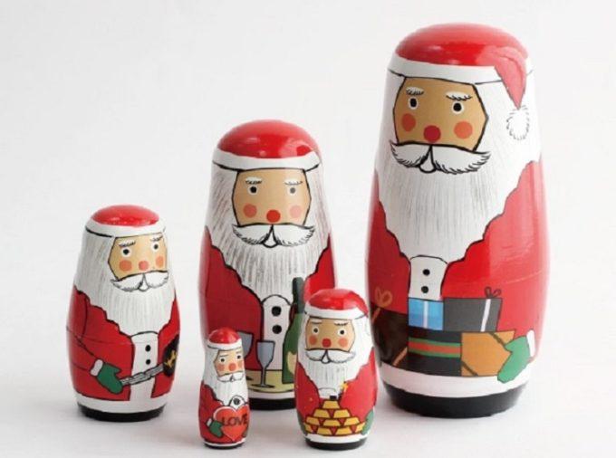 大人可愛いクリスマス雑貨、マトリョーシカサンタ