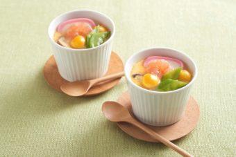 白だし&レンジで簡単調理。彩り豊かで味わい深い本格茶碗蒸しのレシピ