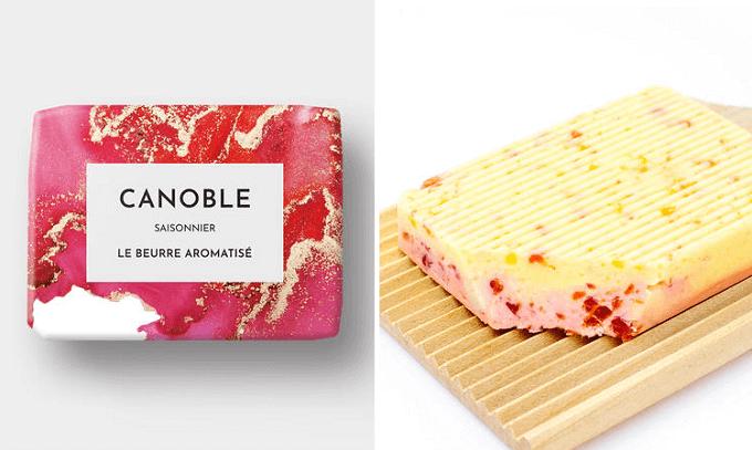 「CANOBLE(カノーブル)」のいちごのケーキのフレーバーの食べるバター