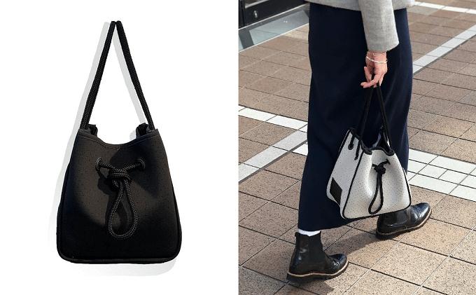 「&MARKS(アンドマークス)」のネオプレン素材のバケツバッグ