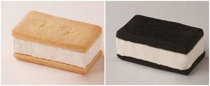 クッキーチーズサンド「濃厚バニラ」と「ハチミツブラック」の写真