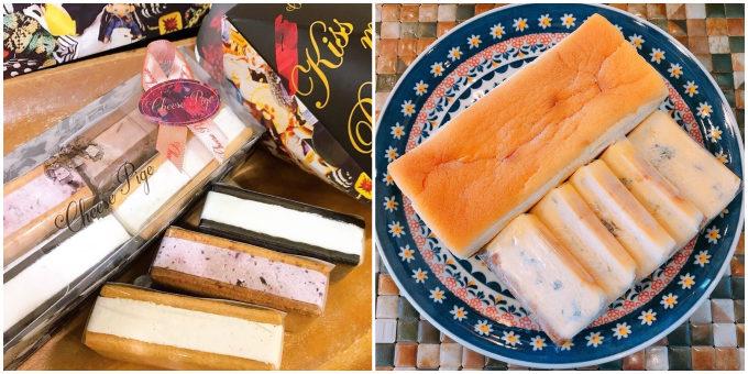 クッキーチーズサンドの詰め合わせボックスと盛り付けの写真