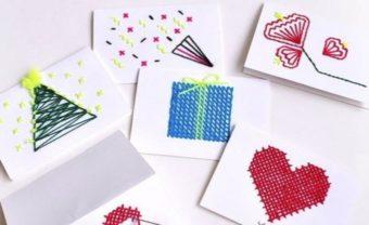 刺繍の針に思いを込める。クリスマスに贈りたい「Giiton」のカードセット