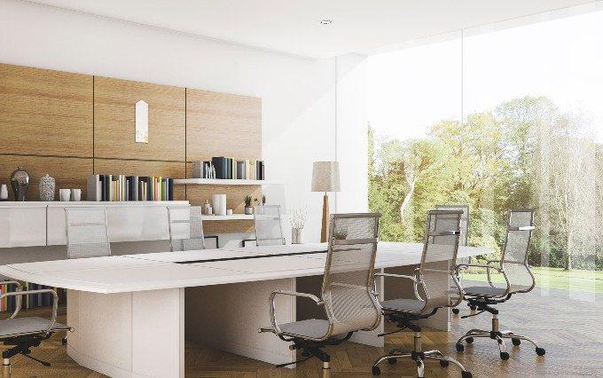 デザイン神棚が置かれたオフィスの写真