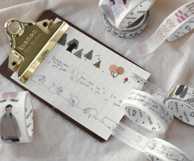 「MONOCHIMO(モノチモ)」のマスキングテープやシール