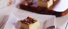 麹チーズケーキの盛り付け写真