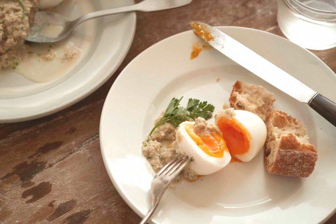 ゆで卵のツナソースの料理写真