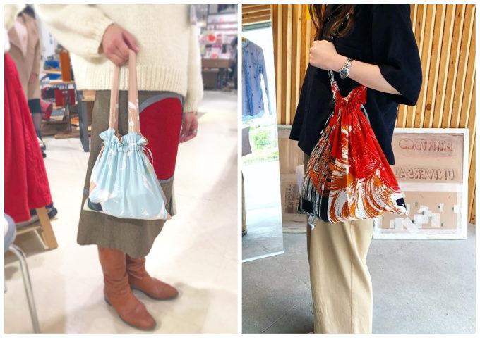 独特の色柄に惹かれる。持つだけで気持ち華やぐ「YUMI YOSHIMOTO」の巾着バッグ