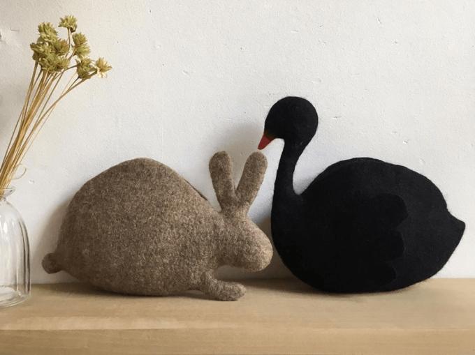 使いやすさも◎動物の形がキュートな羊毛フェルトポーチ