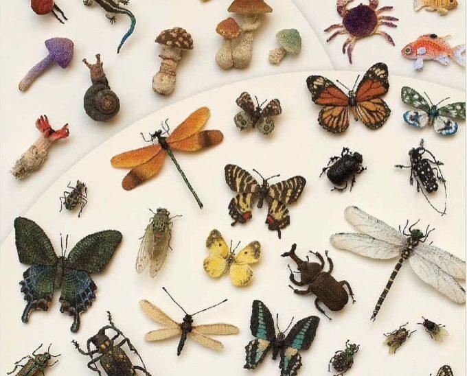 レース糸から生み出されるリアルな生き物たち。マスダマチコさんの編み標本