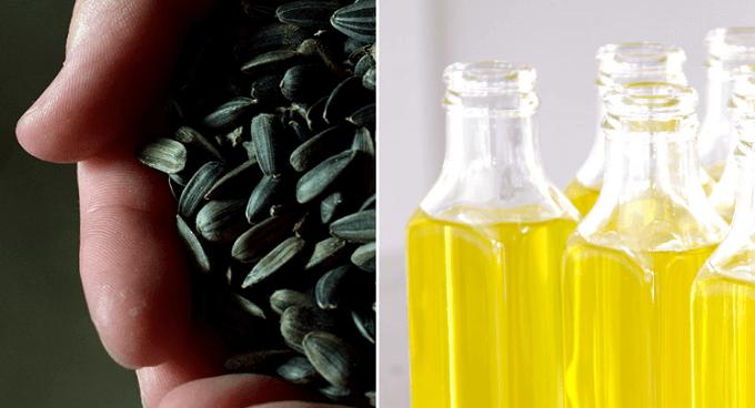 「ablabo.(アブラボ)」の油の原料となる種子と油