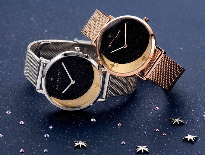 ストーンや月・星のモチーフが輝く「ALETTE BLANC」の腕時計2