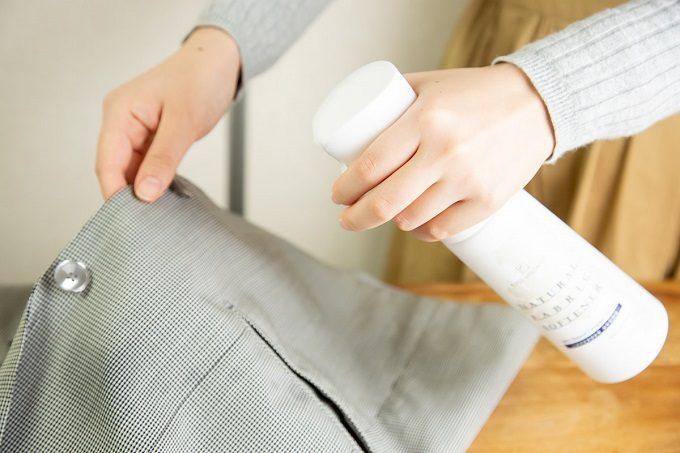 衣類を一枚一枚丁寧にケアできる。スプレー式で掃除にも使える、天然精油の柔軟剤ミスト
