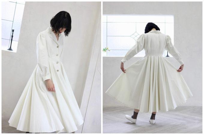 新しい自分に出会うために。真っさらな気持ちで着たい 「foufou」の白いワンピース