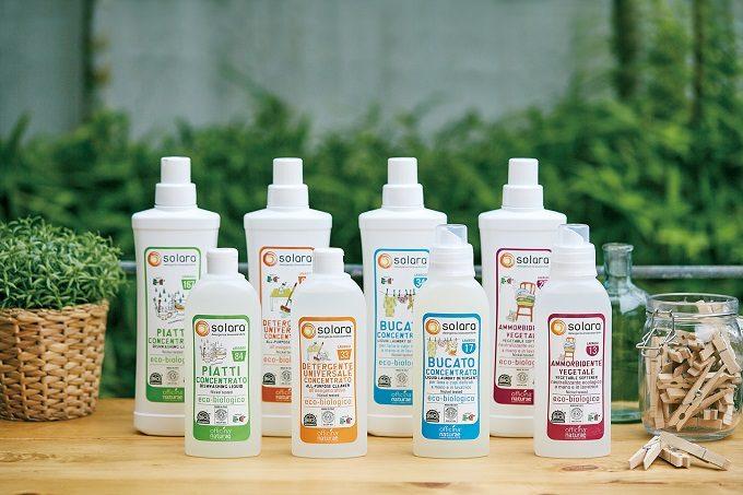 植物由来の原料で汚れを落とす。オーガニック精油の香りに包まれるエコ洗剤「solara」