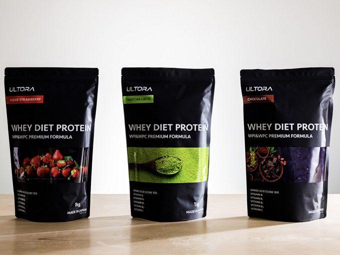 おいしく、高品質なタンパク質を摂取できる。「ULTORA WHEY DIET PROTEIN」