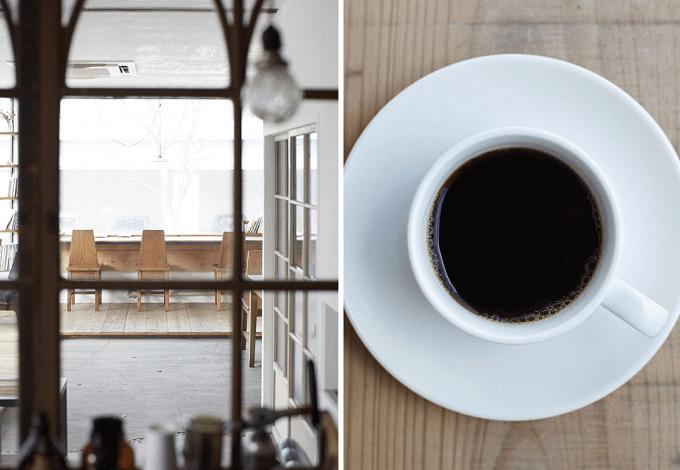 秋田県の「08COFFEE」の店舗の様子とコーヒー