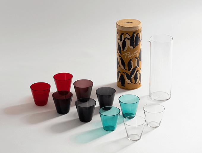 「SNORK MODERN AND CONTEMPORARY」のグラスとピッチャーのセット