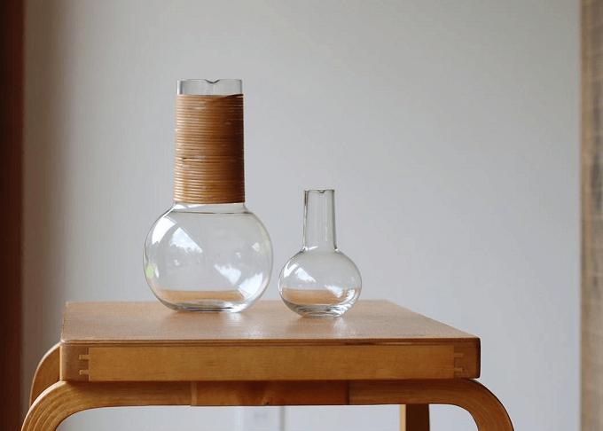 「SNORK MODERN AND CONTEMPORARY」のガラス製品2種類