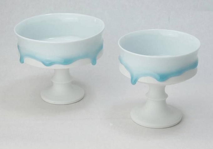 西隆行さんの「雫」シリーズのデザートカップ