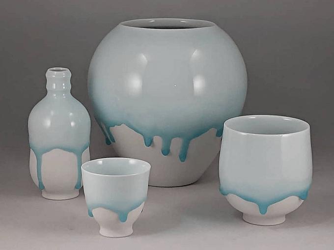 西隆行さんの「雫」シリーズの作品数種類