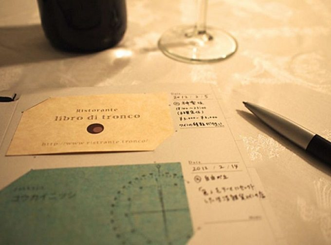 名刺やショップカードを記憶と一緒に整理・保管できる。カード用ファイル「Log book」
