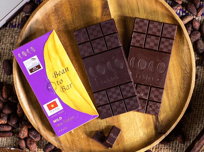 「COCO KYOTO」のタブレットタイプのチョコレート