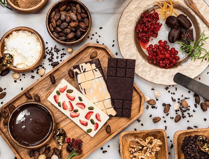 「COCO KYOTO」のチョコレート数種類
