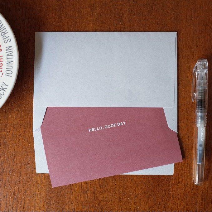 「ありがとう」の素直な気持ちを綴る。温もり感溢れる「five」のカード&レターセット