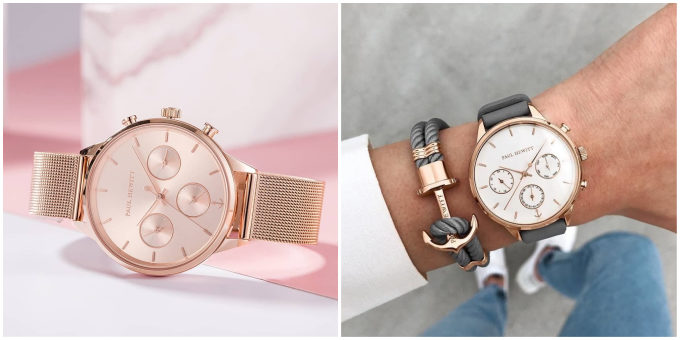 春におすすめの知的な腕時計「PAUL HEWITT(ポールヒューイット)」のローズゴールドとホワイトサンド