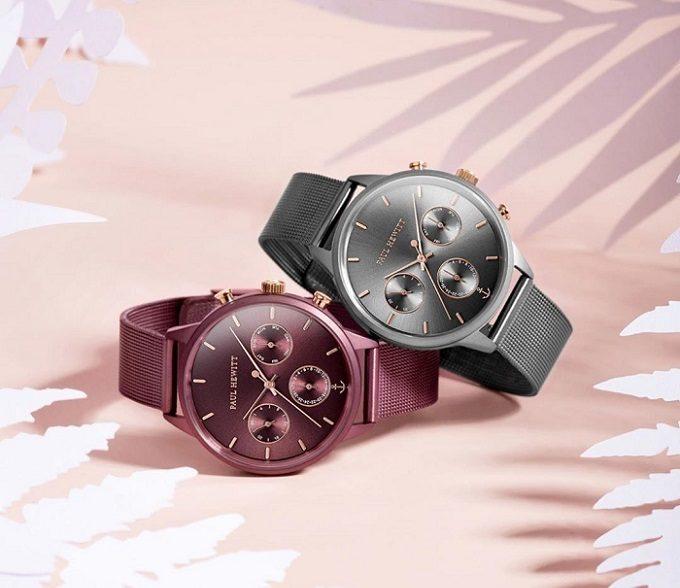 春におすすめの知的な腕時計「PAUL HEWITT(ポールヒューイット)」のグレーメタリックとダークモーヴ
