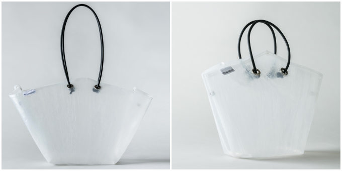 雨にも汚れにも強い。廃棄されるビニール傘から生まれた「PLASTICITY」のバッグ