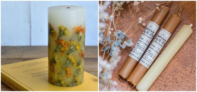 自然を感じる美しいデザイン。「CANDLE LIGHTS」の天然素材を使用したキャンドル