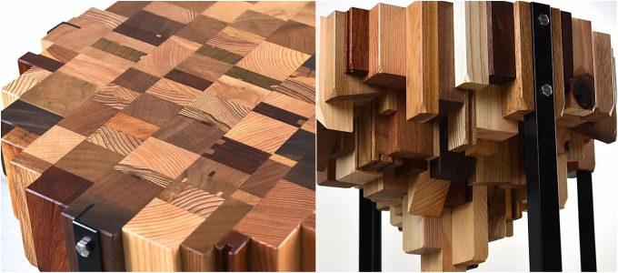 捨てられてしまうはずの木が表情豊かなプロダクトに。廃材を利用した「箱式」の家具&小物