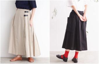 絶妙なデザインがスタイルをよく見せてくれる。夏におすすめの無地スカート特集