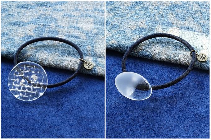 夏のヘアアレンジに加えたい。ガラスの透明感が上品な「HARIO」のヘアゴム