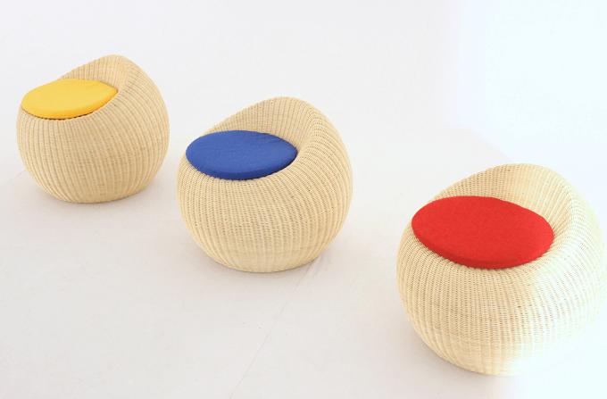 厳選した高品質のラタンを使用。モダンで洗練された雰囲気を纏った「ヤマカワラタン」のチェア