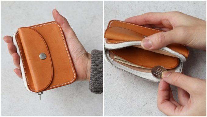 シンプルな人は財布もミニマル。小銭が取り出しやすく機能的なレザー財布<5選>