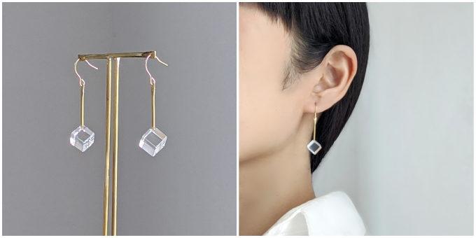 夏の耳元を涼やかに演出。ガラスの表情が魅力的な「Asuka Shimada」のアクセサリー