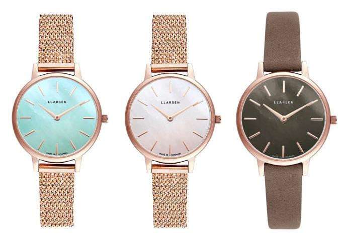 夏にも上品さを忘れたくない方へ。「LLARSEN」のブレスレットのような腕時計