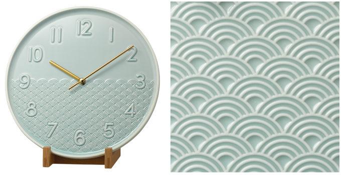 伝統技法とモダンデザインの融合。透けるような白磁と鮮やかな青磁が美しい有田焼の時計