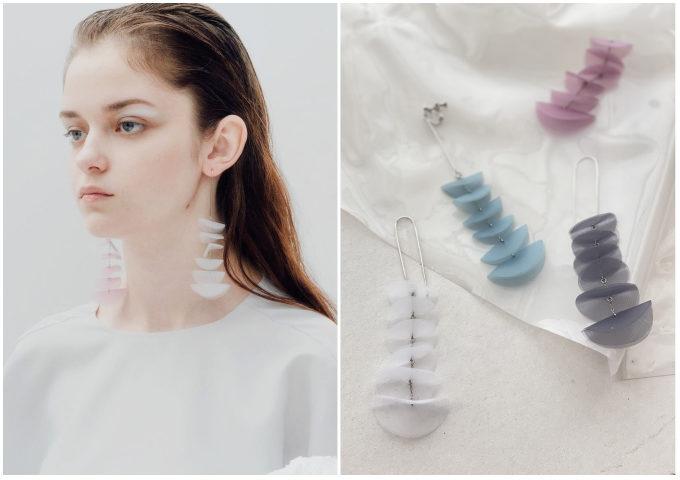 クリア素材で耳元を涼しく彩る。夏の装いを格上げする「nezu(ネズ)」のピアス<3選>