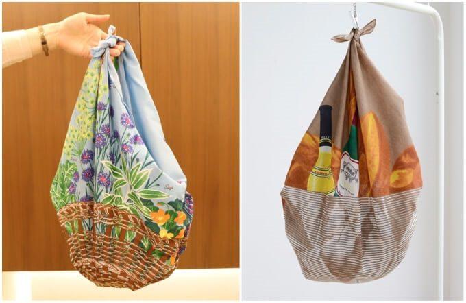 エコバッグやレジャーシート代わりにも使える。かわいくて便利なカジュアル素材の風呂敷