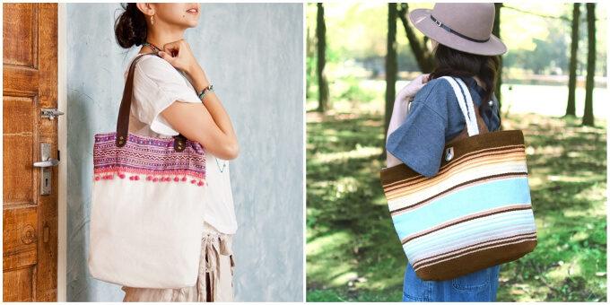 ひとつ持てばサステナブルに一歩近づく。「tesoro」のエスニック模様が可愛いエコバッグ