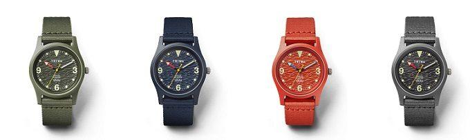 デザインにも素材にも海への想いが溢れる。「TRIWA」のスポーティな防水腕時計