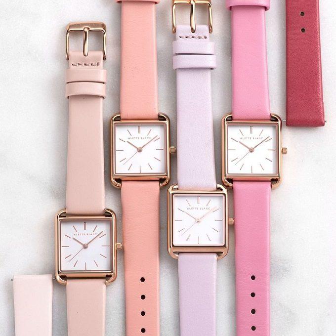 パーソナルカラー診断で似合う色を見つけて。33色から選べる「ALETTE BLANC」の腕時計