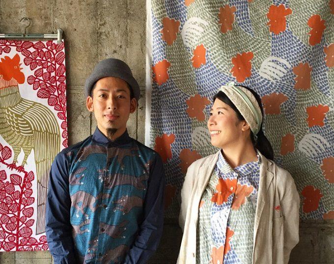 色鮮やかな絵柄に、やさしさや遊び心があふれる。「kata kata」の手ぬぐいのある暮らし