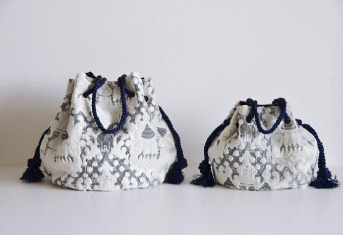 持つだけで装い華やぐ。こだわりの生地を使った「Somei et Miai」の巾着バッグ